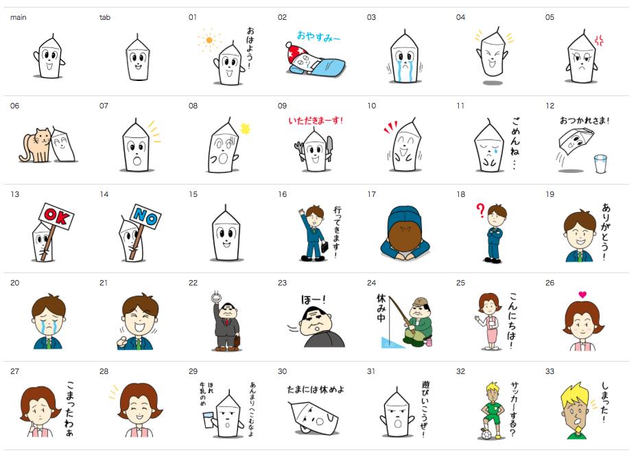 ミルク新聞公式キャラクター「ミルクのケビン」LINEスタンプ発売!!