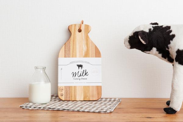 ずっと夢MILK PROJECT第2弾【山形のくだものの木でつくった牛乳瓶型カッティングボード】発売!